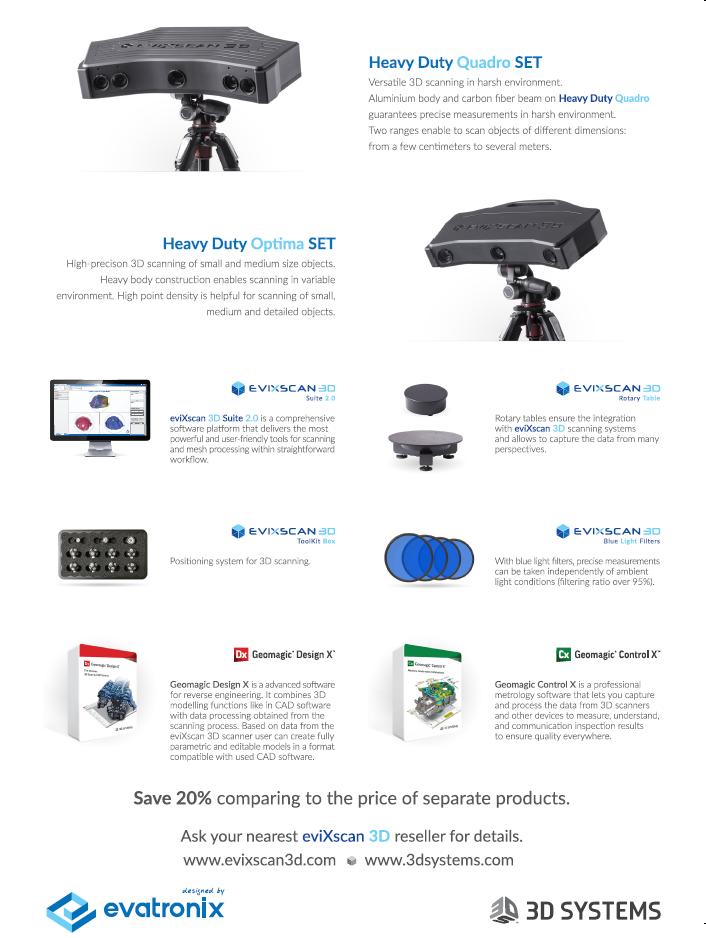 Evatronix - eviXscan 3D Education Package for universities!