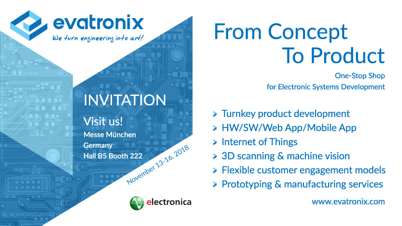 Evatronix Invitation 2018 Electronica Messe Munchen 800x450