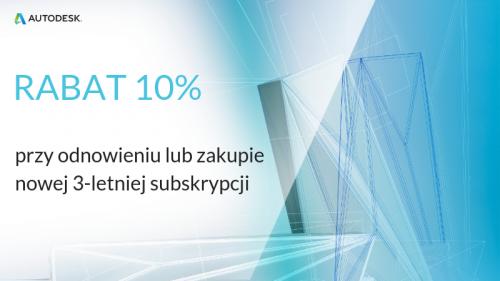 Rabat 10% na programy Autodesk